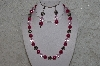 "MBAHB #24-228  ""One Of A Kind Pink & German Silver Bead Necklace & Earring Set"""