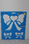 "*MBAMG #009-217  ""1991 Simply Stencils By Plaid #28419 Bows & Hearts"""