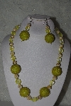 "MBAHB #31-105  ""One Of A Kind Yellow Bead Necklace & Earring Set"""