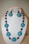 "MBAHB #32-149  ""One Of A Kind Blue Bead Necklace & Earring Set"""