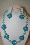 "MBAHB #32-158  ""One Of A Kind Blue Bead Necklace & Earring Set"""