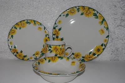 SOLD  MBAMG #0031-091  Tender Heart 16 Piece Sunflower Dinnerware Set  & Mama Bearu0027s Attic - Where Treasures Abound - MBAMG