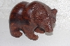 "**MBAMG #0031-106  ""Large Hand Carved Rose Wood Grizzly Figurine"""