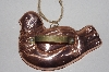 "MBAMG #099-088  ""Vintage Lined Copper Dove Cookie Cutter"""