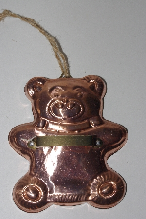"+MBAMG #099-091  ""Vintage Large Copper/Lined Bear Cookie Cutter"""