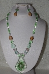 "MBAHB #00014-8839  ""Beautiful Lampworked Glass Bead Necklace & Earring Set"""