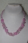 "MBAHB  #00014-8834  ""Fancy Rose Quartz & Glass Bead Necklace"""