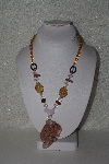 "MBAHB #00014-8814  ""Beautiful Gemstone & Glass Bead Necklace"""