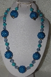 "MBAHB #00015-8963  ""One Of A Kind Blue Bead Necklace & Earring Set"""