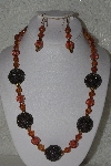 "MBAHB #00015-9071  ""One Of A Kind Brown Bead Necklace & Earring Set"""