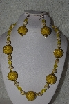 "MBAHB #00015-9029  ""One Of A Kind Yellow Bead Necklace & Earring Set"""