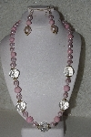 "MBAHB #00015-9011  ""Fancy Pink & Clear Glass Bead Necklace & Earring Set"