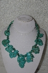 "MBAMG #00016-0159   ""Howlite & Turquoise Bead Necklace"""