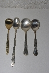 "**MBAMG #00016-0045  ""Vintage Set Of 4 Mixed Pattern Spoons"""