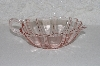 "**MBAAC #01-9475  ""Fancy Pink Glass Serving Dish"""