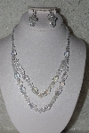 "MBAAC #01-9425  ""Clear AB Crystal Bead Necklace & Earring Set"""