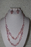 "MBAAC #01-9420  ""Pink AB Crystal Bead Necklace & Earring Set"""