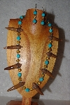 "MBAAC #02-9790  ""Valley Oak Acorn Beads, Gold & Blue Bead Necklace & Earring Set"""