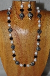 "MBADS #04-922  ""Quartzite & Black Bead Necklace & Earring Set"""