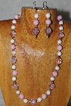 "MBADS #04-903  ""Quartzite & Pink Bead Necklace & Earring Set"""