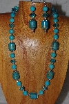 "MBASS #0003-281  ""Blue Bead Necklace & Earring Set"""