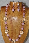 "MBAHB #58-0100  ""Pink & Clear Bead Necklace & Earring Set"""