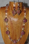 "MBAHB #58-0003  ""Pink & Clear Bead Necklace & Earring Set"""