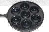 "**MBAVG #101-0232  ""Black Enameled Cast Iron Aebleskiver Pan"""