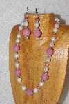 "MBAHB #033-284  ""Pink Porcelain & Mixed Bead Necklace & Earring Set"""