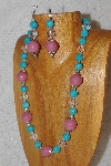 "MBAHB #033-280  ""Pink Porcelain & Mixed Bead Necklace & Earring Set"""