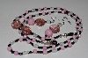 "MBAEG #001-0001  ""Black, Clear & Pink Beads"""