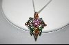 "MBA #CW-MCPR  ""Charles Winston Multi Colored Cz Pendant & Matching Ring"