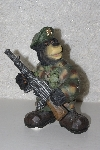 "**MBANG 524- #0168  ""2005 Soldier Bear Figurine"""
