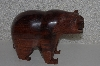 "**MBANG #524-0206  ""Large Hand Carved & Finished Rose Wood Bear"""