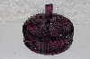"MBA #525-0059  ""Beautiful Art Deco Dark Purple Candy Dish With Lid"""