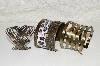 "**MBAHB #2800-0109 ""Set Of 3 Brass Plated Cuff Bracelets"""