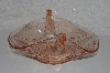 "**MBAMG #108-0027  ""Vintage Candy Pink Glass Double Swan Dish"""