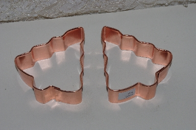 "MBAMG #108-0109  ""Set Of 2 Copper Christmas Tree Cookie Cutters"""