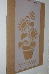 "**MBAMG #009B-0103  ""Large Potted Sunflower Stencil"""