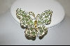 **Nolan Miller Green  Cathedral ButterFly Pin