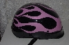 "**MBAMG #999-0124  ""Women's 2009 Black With Pink Flame harley Helmet"""