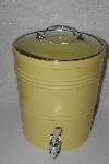 "**MBAAF #0013-0139 ""American Atelier Large Yellow Ceramic Beverage Dispenser"""
