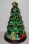 "MBA #S30-047  ""2004 Thomas Pacconi 16"" Hand Blown Glass Table Top Christmas Tree"""