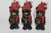 "MBA #S29-118  ""Set Of 6 Black Bears With Gifts Ornaments"""