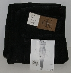"MBAJ #502-0057 Size 8/32"" Long  ""Black Calvin Klein Relaxed Fit Jeans"""