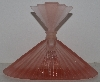 """SOLD""  MBAM #421-0064  ""Older Beautiful Pink Frosted Glass Fancy Perfume Bottle"""