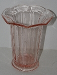 "LAMPS II #0027  ""Vintage Pink Glass Vase"""