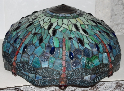 Mama bears attic where treasures abound lamps ii lamps ii 433 tiffany style stained glass blue green dragonfly floor lamp mozeypictures Images