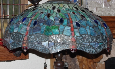 Mama bears attic where treasures abound lamps ii lamps ii 433 tiffany style stained glass blue green dragonfly floor mozeypictures Images