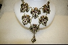 """SOLD""   Heidi Daus 7 Madallion and Glass Pearl  Swarovski Crystal Necklace"